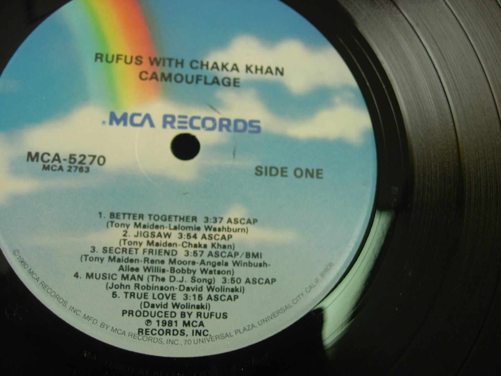 Rufus with Chaka Khan - Camouflage - MCA Records MCA-5270