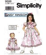 2001 Child's & Doll's DRESS & SLIP Daisy Kingdom Pattern 9598-s Sizes 5-8 UNCUT - $12.00