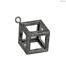 16 MM Diamond Pave Square Charm Pendant 925 Sterling Silver Jewelry 925 ... - $562.20