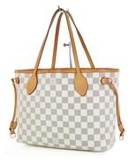 Authentic LOUIS VUITTON Neverfull PM Damier Azur Tote Bag Purse #34910 - $789.00