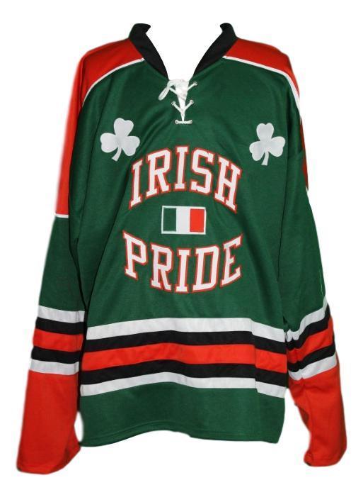 Team ireland irish pride march 17 hockey jersey green   1