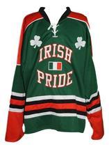 Custom Name # Ireland Irish Pride March 17 Hockey Jersey New Green Any Size image 1