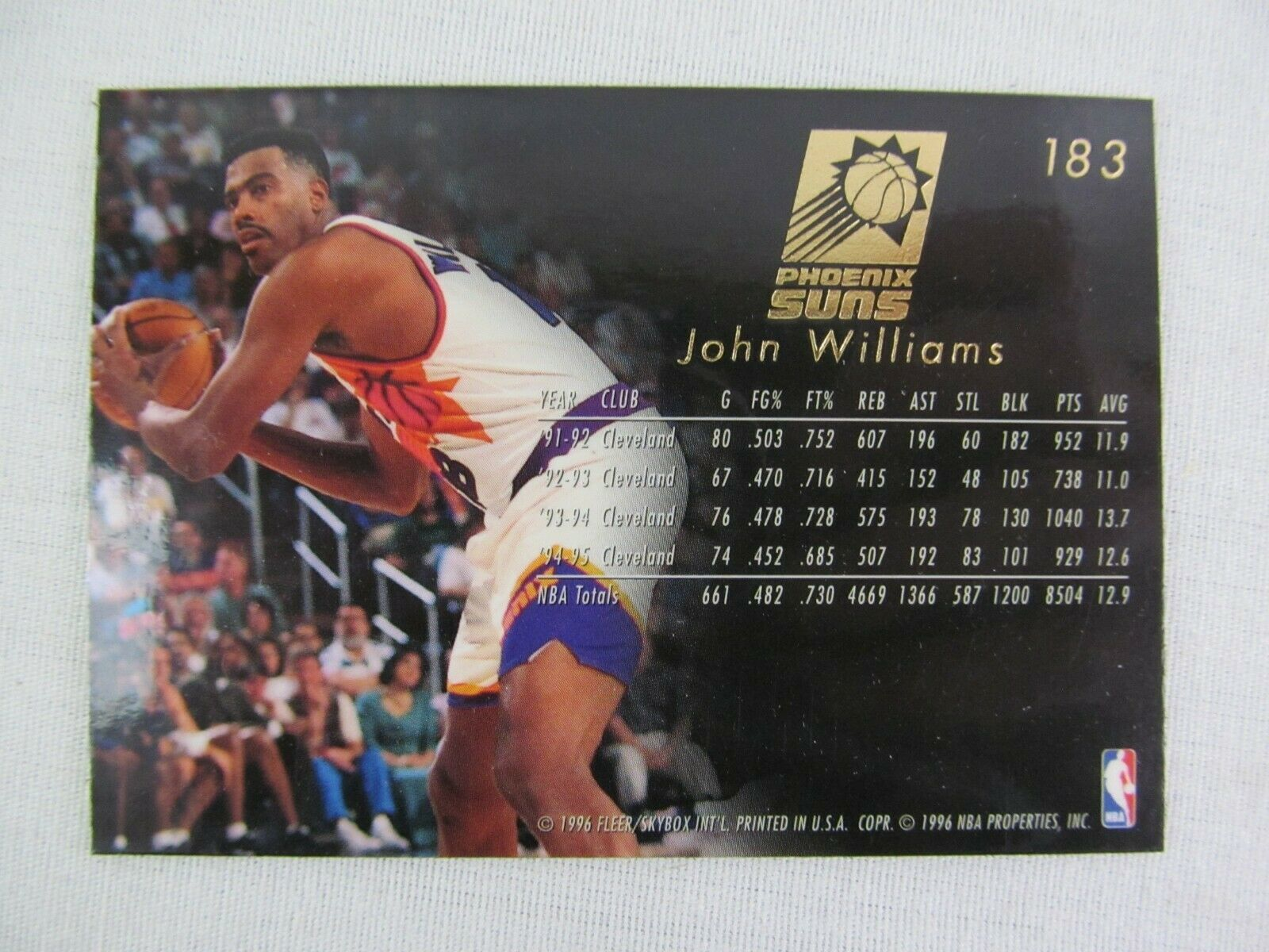 John Williams Phoenix Suns 1996 Fleer Basketball Card Number 183