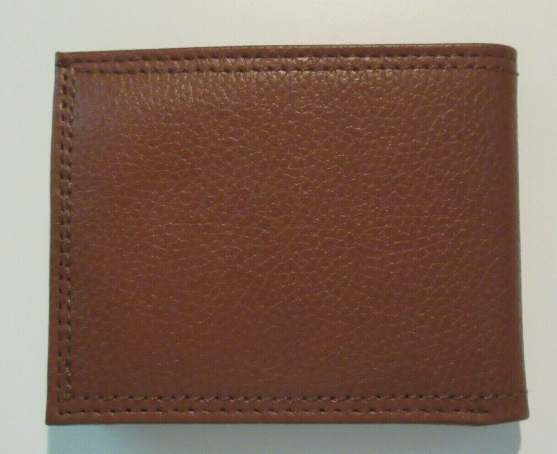 Levi's Mens Genuine Leather Slim Bifold Wallet Brown RFID NWT Ships Free  image 4