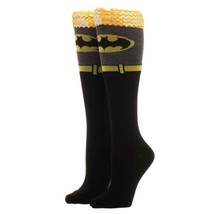 Batman Knee High Sequin Women's Socks Black - $13.98