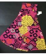 NWT LuLaRoe Maxi XS Pink Big Yellow Flowers Geometric Navy Blue Mint Green  - $29.69
