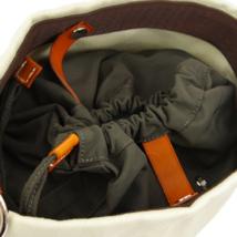 HERMES Sac De Pansage Shoulder Bag □L A R Ivory Brown Toile H Leather image 4