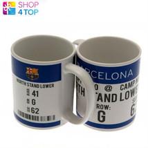 FC BARCELONA CERAMIC MUG CUP COFFEE OFFICIAL FOOTBALL SOCCER CLUB TEAM NEW - $13.36