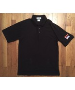 CINTAS Dunkin Donuts Work Uniform Short Sleeve Black Polo Shirt Medium M - $29.99