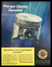 1955 Chevrolet Genuine Parts Auto Vintage Print Ad - $14.20