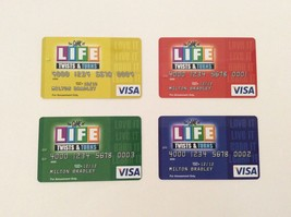 THE GAME OF LIFE Twists & Turns 4 VISA GAME CARDS complete set 2007 repl... - $9.49