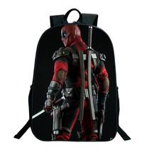Deadpool Backpack Book School Bags DC Marvel Star Wars Anime Comics Cart... - $51.68 CAD