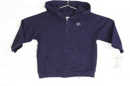 Baby Bgosh Navy Blue Hoodie Zip Up Sweater Long Sleeve Baby Boy Size 12 Months - $14.95
