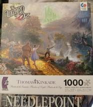 "Thomas Kinkade 'The Wizard of Oz' 1000 piece jigsaw puzzle 27"" x 20"" Made in USA - $18.26"