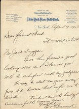 EDDIE BRANNICK Autograph letter signed. 1928. NY Giants baseball club st... - $98.99