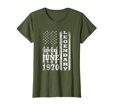Brother Shirts - Legendary Since June 1970 Shirt 48th Birthday Gifts USA Flag Wo - $19.95+