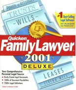 NEW Quicken Family Lawyer 2001 CD Rom Windows Suite CDROM  FAST SHIPPIN... - $14.84