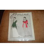 Femina French Fashion Magazine cover only by Paul Iribe Feb 1912 ads on ... - $56.99