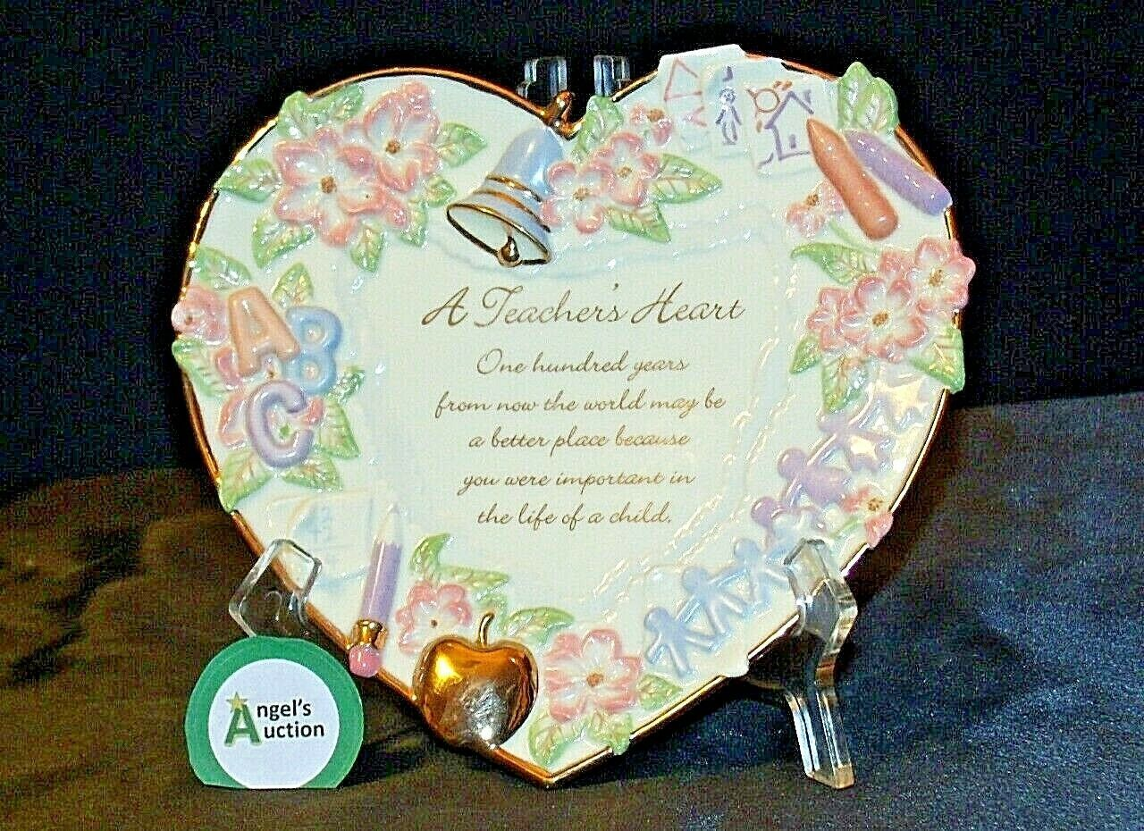 A Teacher's Heart Plate - Lessons from the Heart C B4508 Collection AA20-2079 Vi