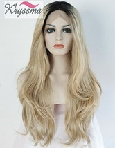 K'ryssma Ombre Blonde Synthetic Lace Front Wigs For Black Women,2 Tone C... - $42.97
