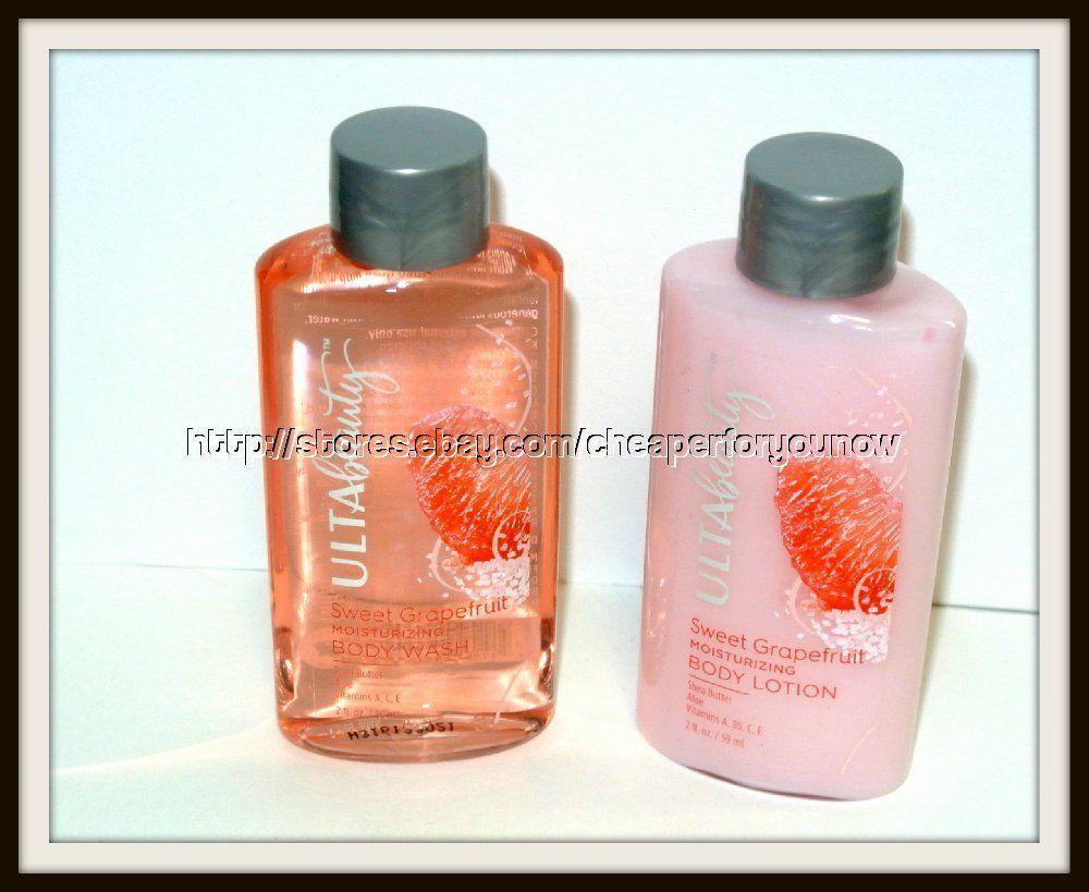 ULTA Sweet Grapefruit moisturizing Body Wash Lotion 2 fl.oz. each travel size - $6.88