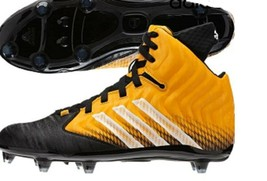 Adida Filthyquick Men's 16 Gold Black Football Molded Cleats NEW - $23.93