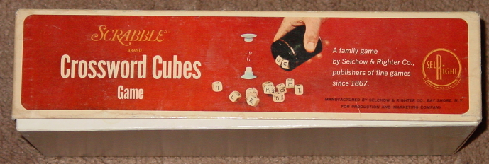 Scrabble Crossword Cubes Game 1968 Selchow & and 34 similar items