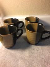 (4) Sango ---GOLD Dust Black ----COFFEE MUGS---FREE SHIP---VGC - $30.70