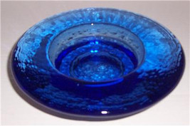 VINTAGE Dazzling Serene Blue Handcrafted Solid Glass Table Display - $24.99