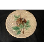 Majolica Pottery Blackberry & Basketweave Plate 10.25 inches - $29.99