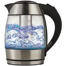 Brentwood Borosilicate Glass Tea Kettle With Tea Infuser BTWKT1960BK - €40,16 EUR