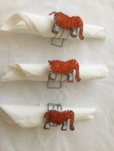 African Ethnic Wire Beaded Napkin Rings Holders... - $35.81