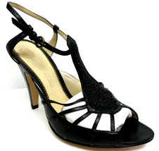 New Imagine By Vince Camuto Black Beaded 7.5 B Shoes Sandals Heels 7 1/2 - $35.10