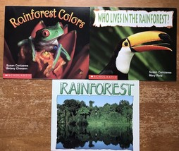3 Paperback Books Science Vocabulary Readers Scholastic Rain forest Curr... - $9.94