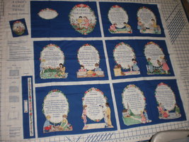 A Child's Book Of Virtues Christian Fabric Traditions Book Panel uncut  - $17.95