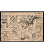 Jim Rice Red Sox Sports Cartoon Newspaper Clipping Baseball Phil Bissell... - $14.99