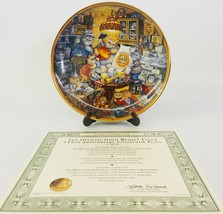 Franklin Mint Plate Bill Bell Official 115th Anniversary Gold Medal Flou... - £45.56 GBP