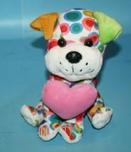 "Walmart DOG 7"" Polka Dots Circles Plush Corduroy Heart Soft Toy Stuffed ... - $15.42"