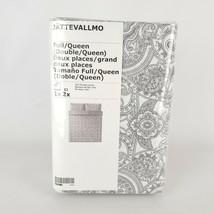 Ikea JÄTTEVALLMO Duvet Cover 2 Pillowcases White/Gray Full/Queen Jatteva... - $58.15