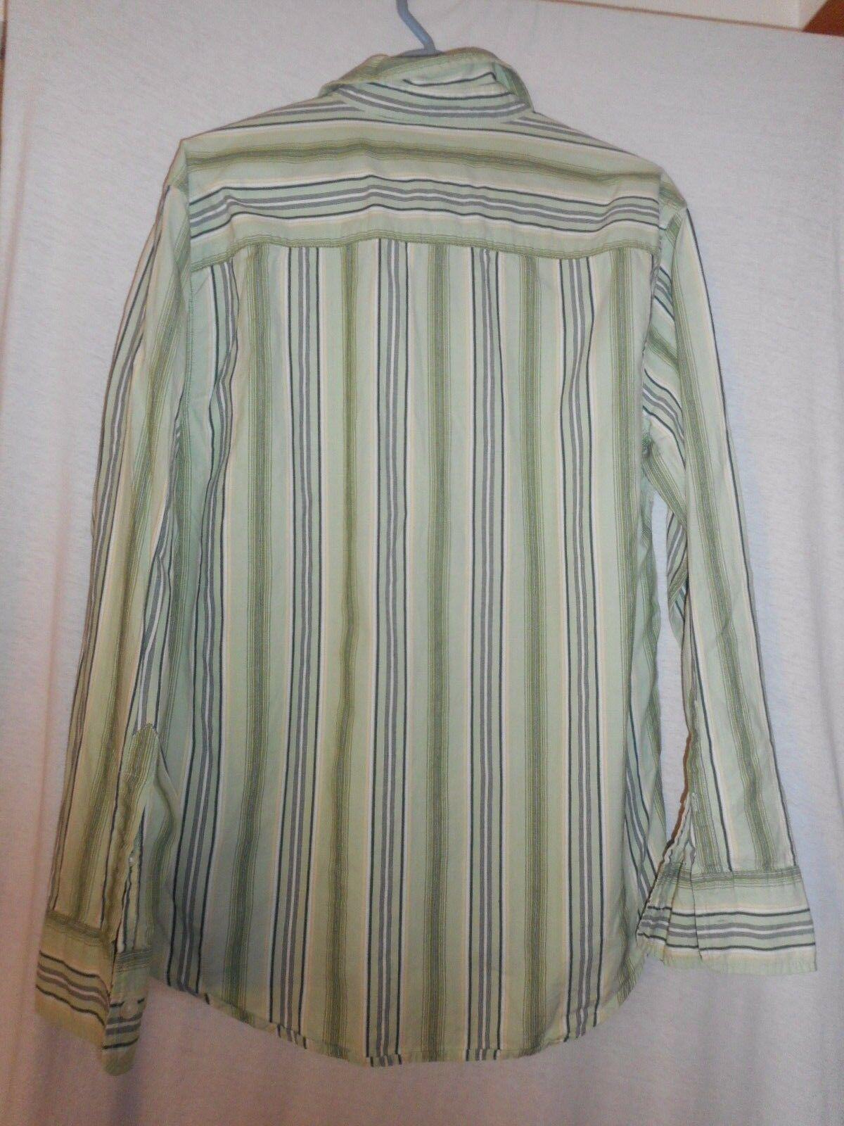 Aeropostale Slim Fit Size M Green / Blue / Yellow Plaid shirt 100% cotton Shirt