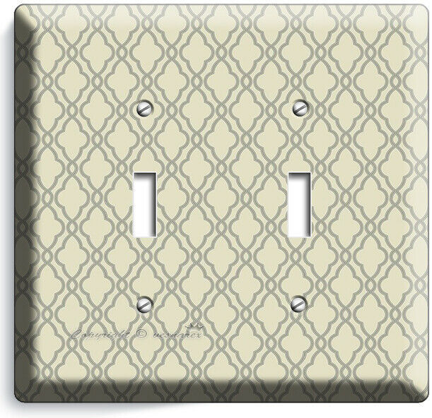 HAMPTON TRELLIS PATTERN 2 GANG LIGHT SWITCH WALL PLATES BEDROOM ROOM HOME DECOR