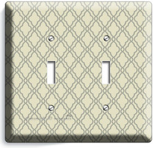 HAMPTON TRELLIS PATTERN 2 GANG LIGHT SWITCH WALL PLATES BEDROOM ROOM HOM... - $12.99