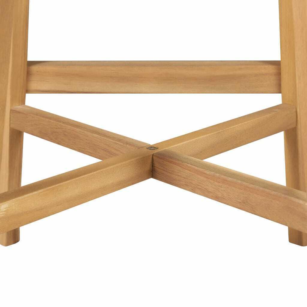 vidaXL Solid Acacia Wood 3 Pieces Outdoor Bar Set Poly Rattan Furniture