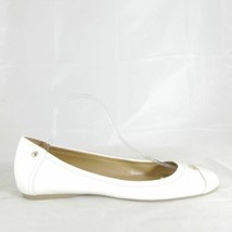 11 - Coach White Leather Closed Toe Chelsea Ballet Flats Shoes New 0205KD - $110.00