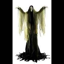 Talking LifeSize ANIMATED TOWERING WITCH Halloween Haunted House Prop De... - $178.17