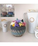Handmade Ceramic Pot with Preserved Real Flower Arrangement Everlasting ... - $27.95+
