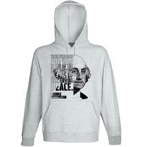 George Washington - To Be prepared- New Cotton Grey Hoodie - $31.88