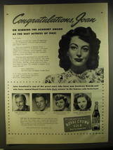 1946 Royal Crown Cola Advertisement - Joan Crawford, Bing Crosby, Gary Cooper - $14.99
