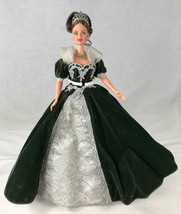 Barbie Doll Vintage Evening Gown Black Velvet with Silver Lace Tiara Jew... - $24.18