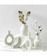 Stylish Ceramic Vase Sophisticated Ornament Flower Pot Home Decor Crafts... - $33.65+